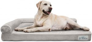 PetFusion BetterLounge Dog Bed w/ solid orthopedic Memory Foam