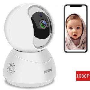Peteme Baby Monitor 1080P FHD Home WiFi Security Camera Sound/Motion Detection with
