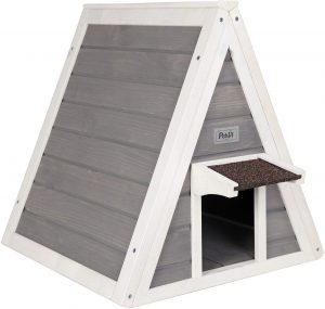 Triangle cat house outdoor