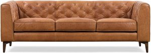 Poly and Bark Essex Leather Modern Sofa