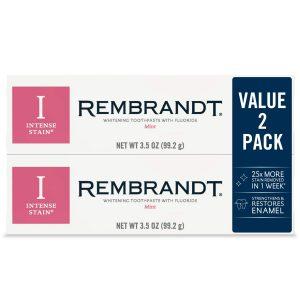 Rembrandt Intense Stain Whitening Toothpaste, Mint Flavor,