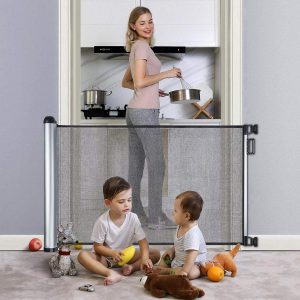 "Retractable Baby Gate 48"" Extra Wide Baby Gate Pet Gate Easy Latch and Flexible"
