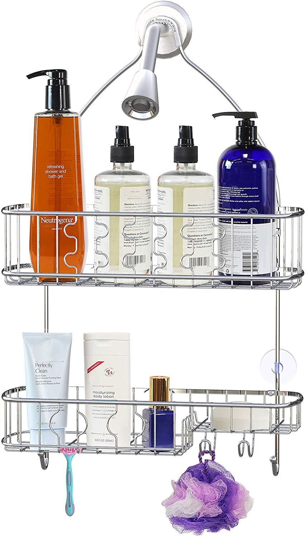 Simple Houseware Bathroom Hanging Shower Head Caddy Organizer