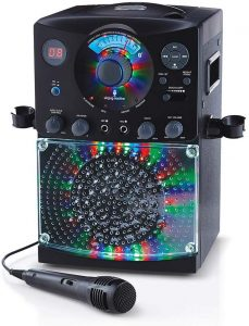 Singing Machine SML385BTBK Bluetooth Karaoke System with LED Disco Lights
