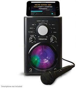 Singsation Karaoke Machine - Full Karaoke System with Wireless Bluetooth Speaker and Microphone