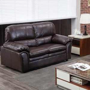 Sofa Leather Loveseat Sofa Sectional Sofa Contemporary Sofa Couch for Living Room Furniture 2 Seat Modern Futon