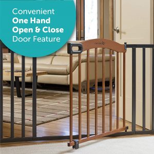 Summer Decorative Wood & Metal 5 Foot Pressure Mounted Baby Gate