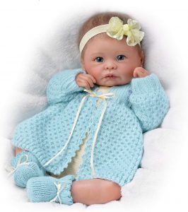 Sweetly Snuggled Sarah So Truly Real Lifelike & Realistic Weighted Newborn Baby Doll 16-inches