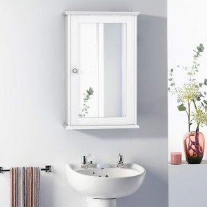 Wall Mount Storage Cabinet with Single Door | Bathroom Medicine Cabinet