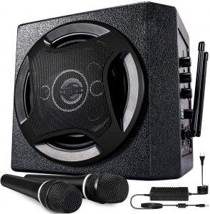 TONOR PA System Karaoke Machine with Bluetooth Powered Speaker Wireless Microphones