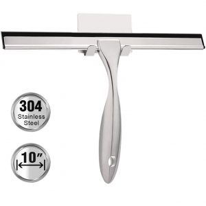clear shower squeegee stainless teel