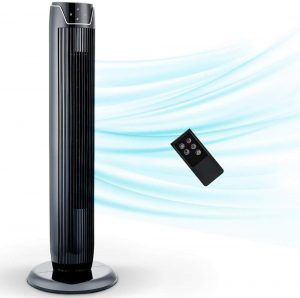 Tower Fan, Oscillating Fan with Quiet Cooling 3 Wing Mode, 3 Speed ​​and Remote Control