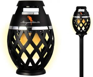 bluetooth flame speaker with pole