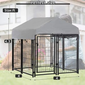 Indoor Pet Playpen with a Roof and Water-Resistant