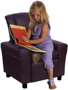 Windaze Children Recliner for Little Boys Girls Small Sofa Chair with Cup Holder