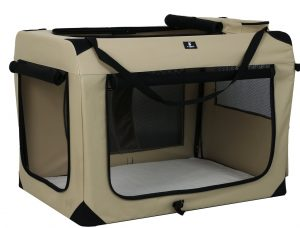 X-ZONE PET 3-Door Folding Soft Dog Crate, Indoor & Outdoor Pet Home,