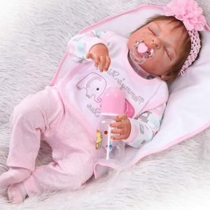 "ZIYIUI 23"" Full Body Silicone Vinyl Reborn Doll 