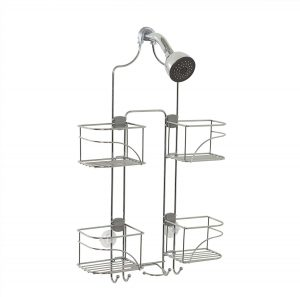 Zenna Home Expandable Over-The-Shower Caddy, Chrome