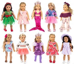 ebuddy 10-Sets Fashion Doll Clothes and Accessories