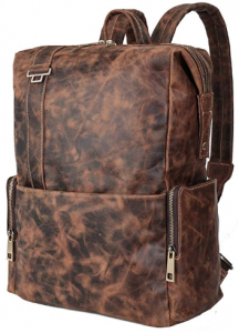 15.6 Inch Laptop Leather Bag Daypack