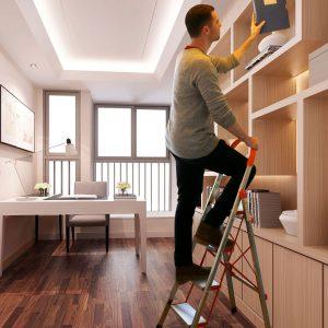 Folding 4-Step Stool Ladder with Anti-Slip Rubber Hand Grip