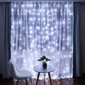 sheer curtains with led lights