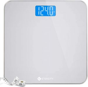 Large Blue LCD Backlight Display & High Precision Measurements bathroom scale, 400 Pounds
