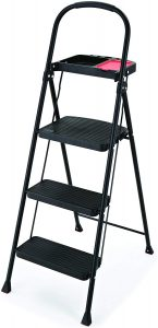 Rubbermaid RMS-3T 3-Step Stool ladder with wide steps