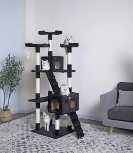 "Go Pet Club 72"" Cat Tree House with Tower"