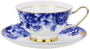 decorated tea cups