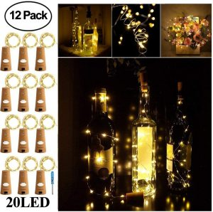 Adecorty Wine Bottle Lights with Cork