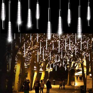 raining icicle lights
