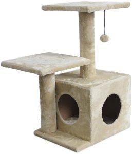 AmazonBasics Cat Tree with Cave | cat tree house amazon