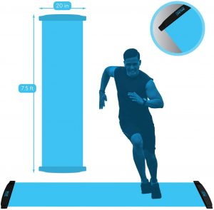 Workout Board for Fitness Training and Therapy with Shoe Booties and Carrying Bag Included