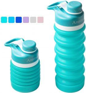 Anntrue Collapsible Water Bottle BPA Free,