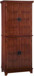 Arts & Crafts Oak Cottage Pantry by Home Styles