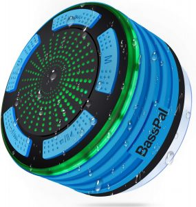 BassPal Shower Radios, IPX7 Waterproof Portable Wireless Bluetooth Speaker