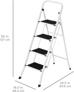 Best-Choice-Products-Portable-Folding-Steel-4-Step-Stool-Ladder-Hand-Rail-Wide-