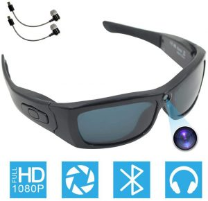 Bluetooth Camera Sunglasses Full HD 1080P Video Recorder Camera with UV Protection Polarized Lens