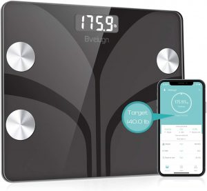 Body Composition Analyzer and Health Monitor with Tempered Glass Platform | Large Digital Backlit LCD Scale with Smartphone App