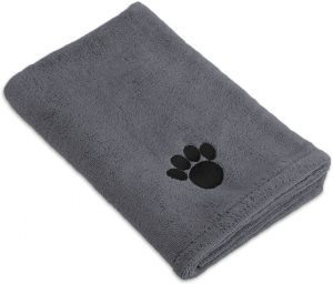 Microfiber Dog Bath Towel with Embroidered Paw Print