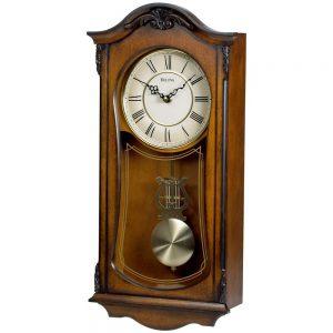 Bulova-Clocks Cranbrook-Wall-Mount-Analog-Wooden