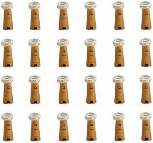 CUUCOR 24Pack Wine Bottle Lights with Cork, 7.2ft 20 LEDs Battery