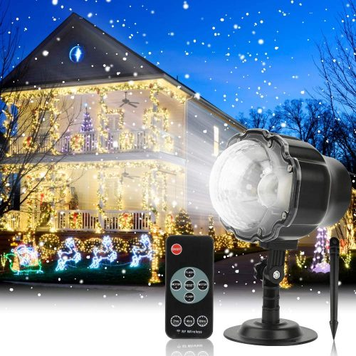 Christmas Projector Light Outdoor Snowfall LED Projector Waterproof Rotating Snow Projection