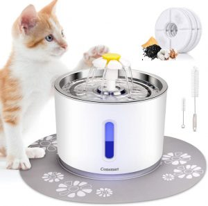 Pet Fountain Stainless Steel Automatic Drinking Water Dispenser for Cats, Dogs, Other Pets