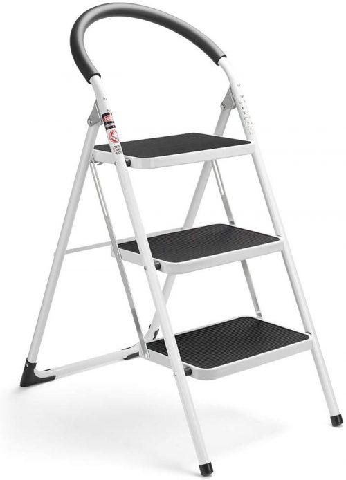 Delxo 3 Step Ladder Folding Step Stool 3 Step ladders