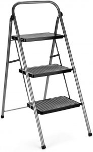 Delxo 3 Step Stool Folding Step Stool | deep tread step ladders