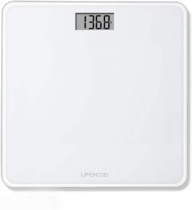 Auto-Calibrated & Auto ON/Off Technology, Wide Sturdy Tempered Glass Bathroom Scale, Round Corner Safe Design