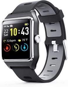 Heart Rate Monitor, Sleep Tracker, Step Counter, Activity Watches for Men, Women, Compatible with Android iOS Phone