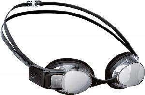 Built into Premium Anti-Fog Swimming Goggles, Silver Mirrored
